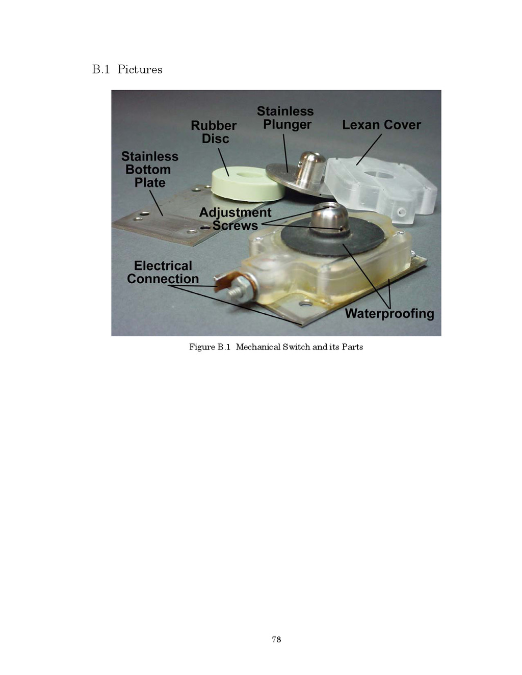 78 B.1 Pictures Figure B.1 Mechanical Switch an...