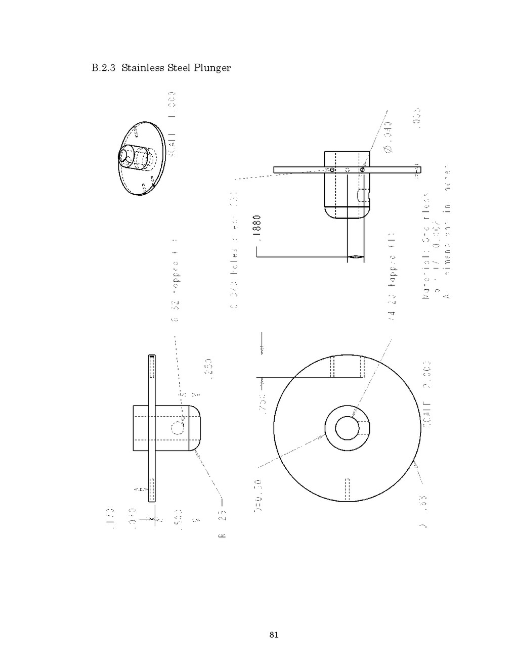 81 B.2.3 Stainless Steel Plunger