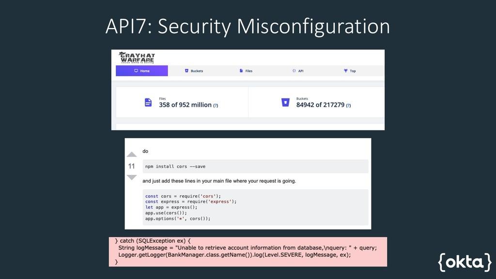 API7: Security Misconfiguration
