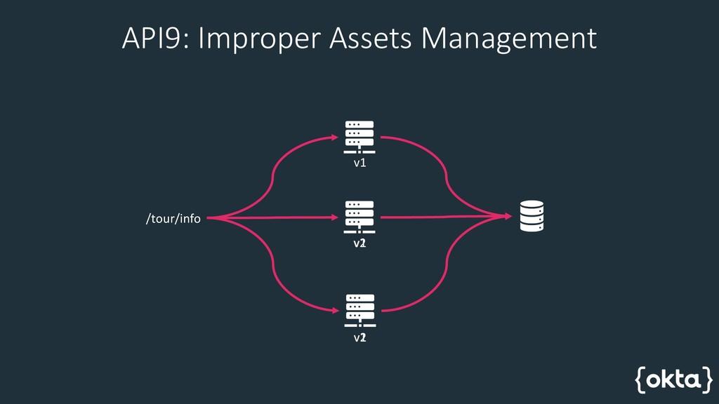 API9: Improper Assets Management /tour/info v1 ...