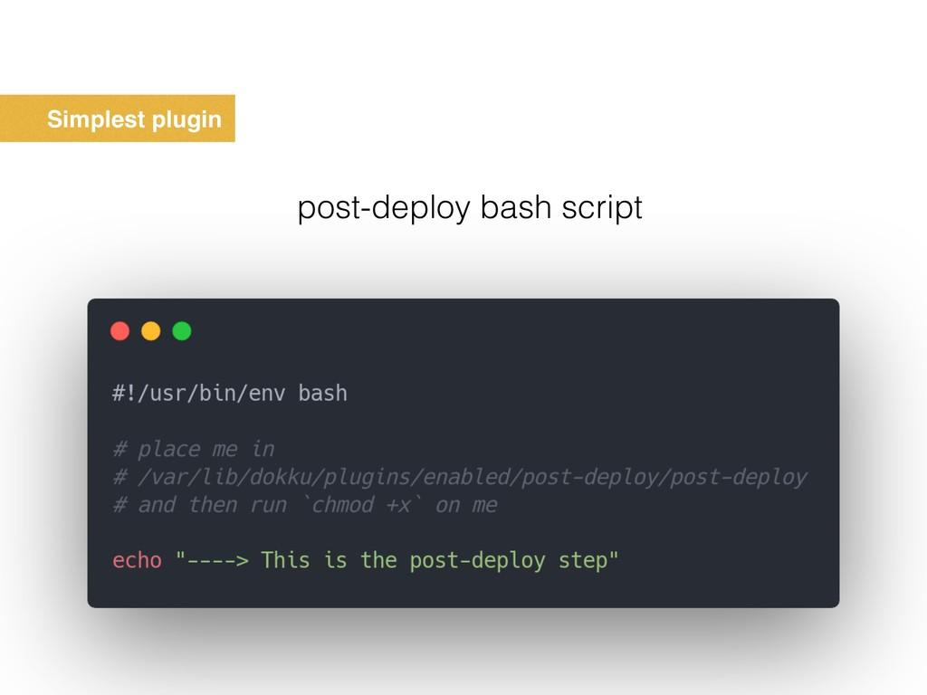 Simplest plugin post-deploy bash script