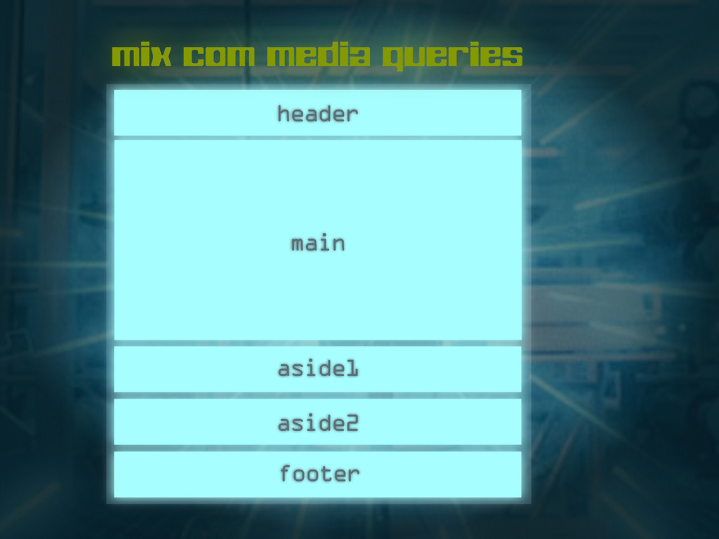 header main footer aside2 aside1 mix com media ...
