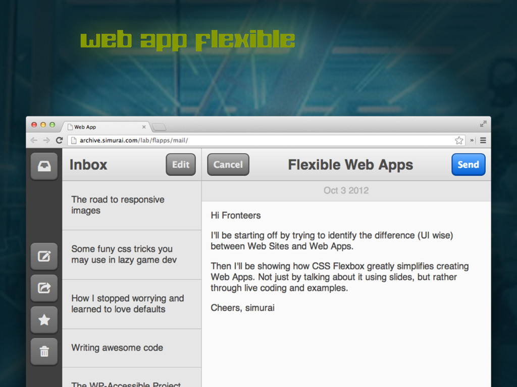 web app flexible