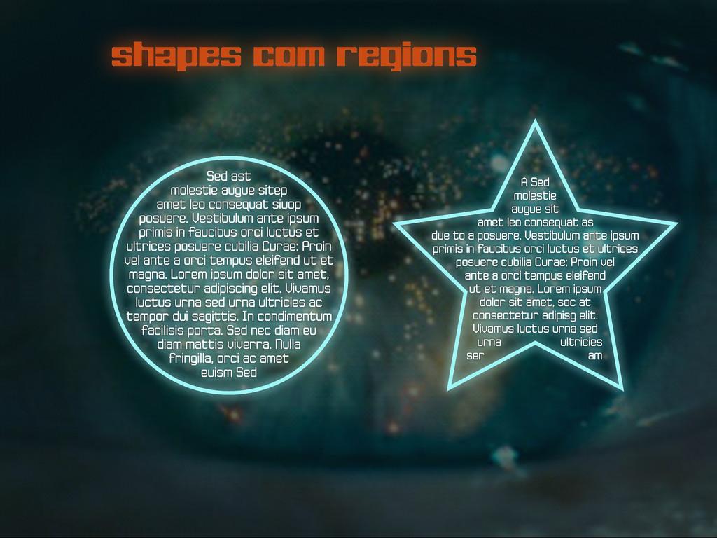 shapes com regions A Sed molestie augue sit ame...