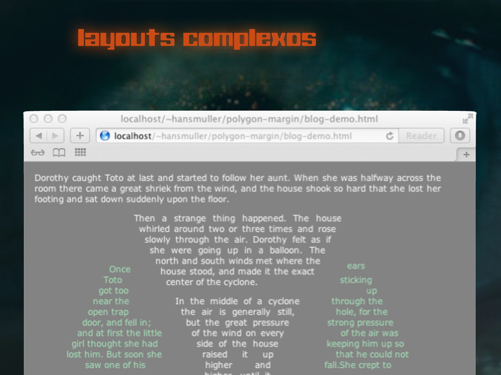 layouts complexos