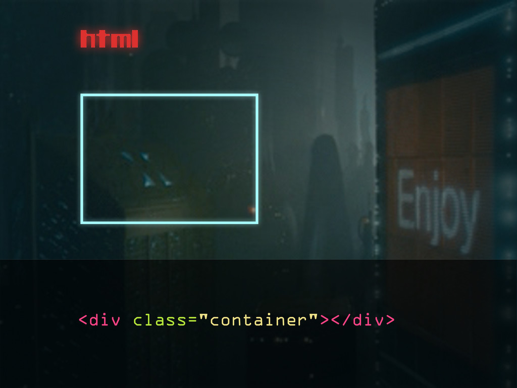 """html <div class=""""container""""></div>"""