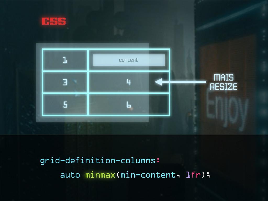 css content 1 3 4 5 6 RESIZE MAIS grid-definiti...