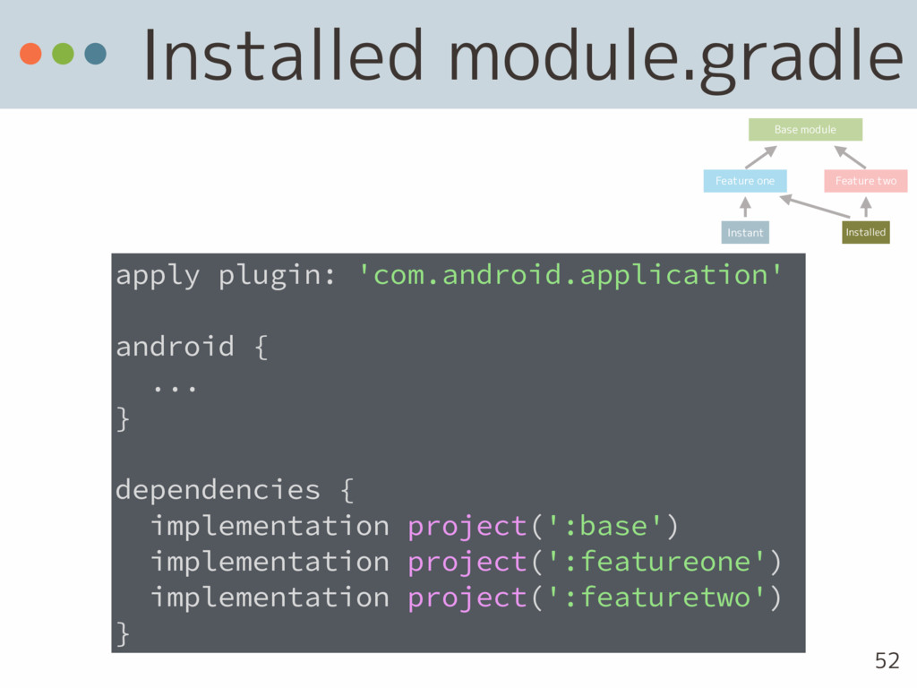 Installed module.gradle apply plugin: 'com.andr...