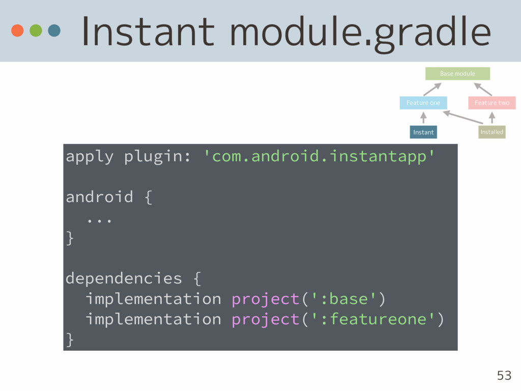 Instant module.gradle apply plugin: 'com.androi...