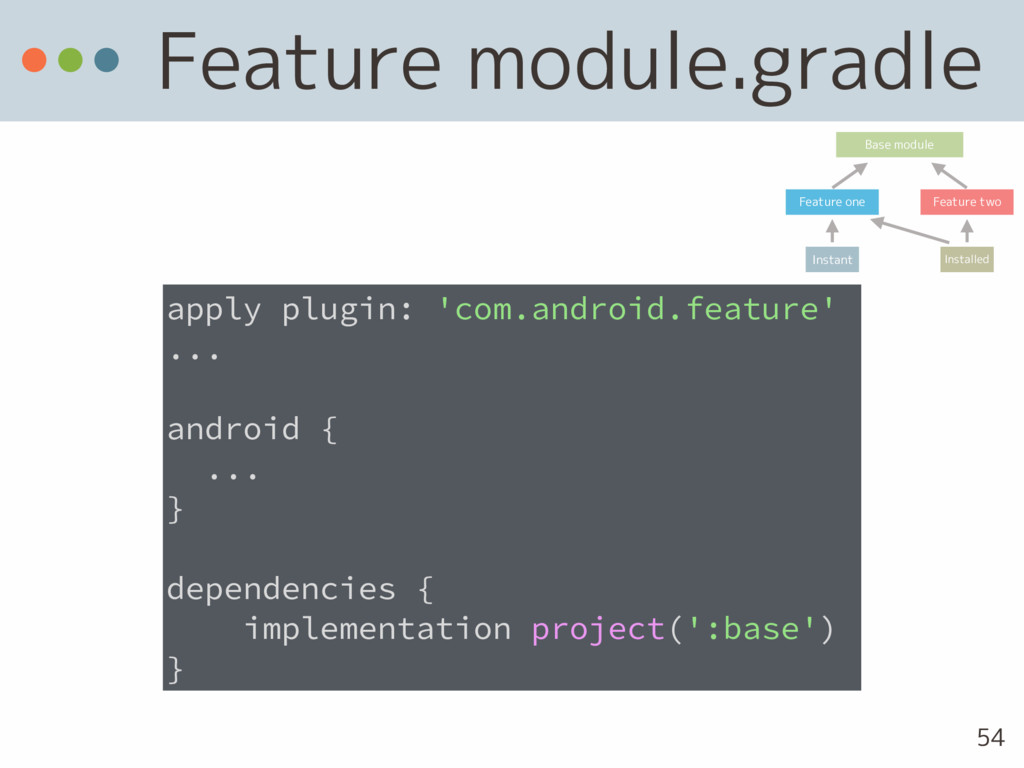 Feature module.gradle apply plugin: 'com.androi...