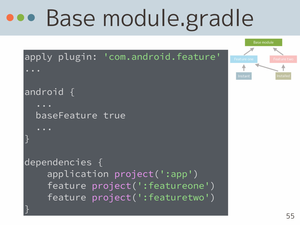 Base module.gradle apply plugin: 'com.android.f...