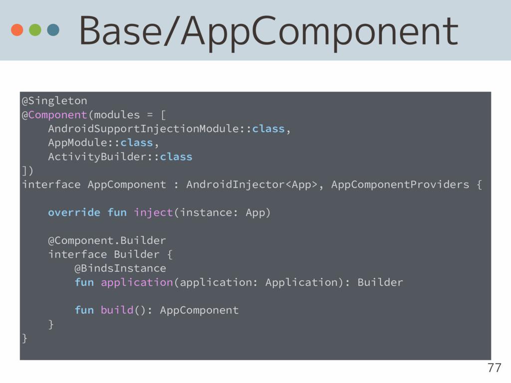 Base/AppComponent 77 @Singleton @Component(modu...