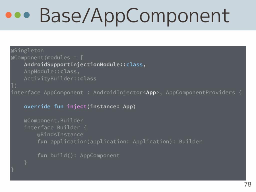 Base/AppComponent 78 @Singleton @Component(modu...