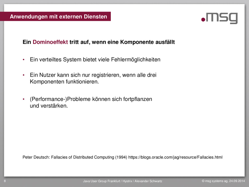 © msg systems ag, 24.09.2014 Java User Group Fr...