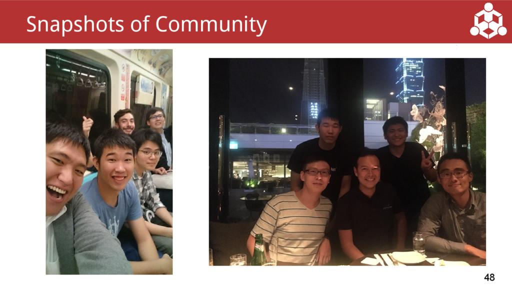 48 Snapshots of Community