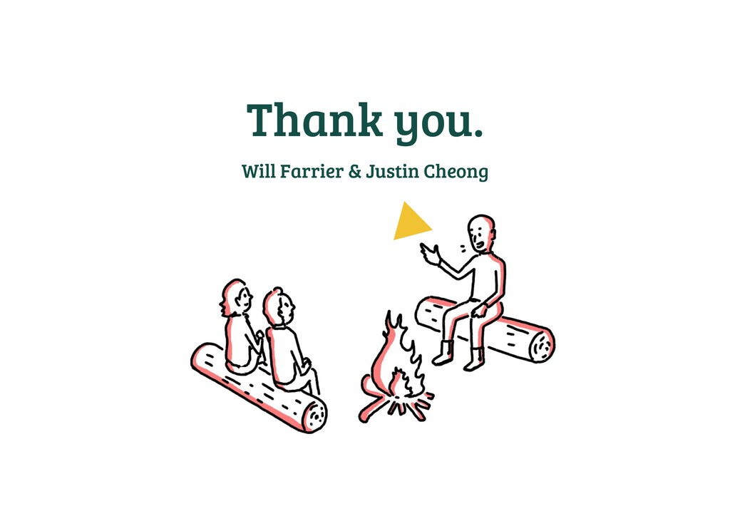 Thank you. Will Farrier & Justin Cheong