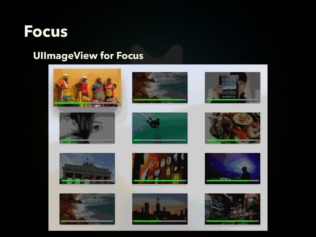Focus UIImageView for Focus