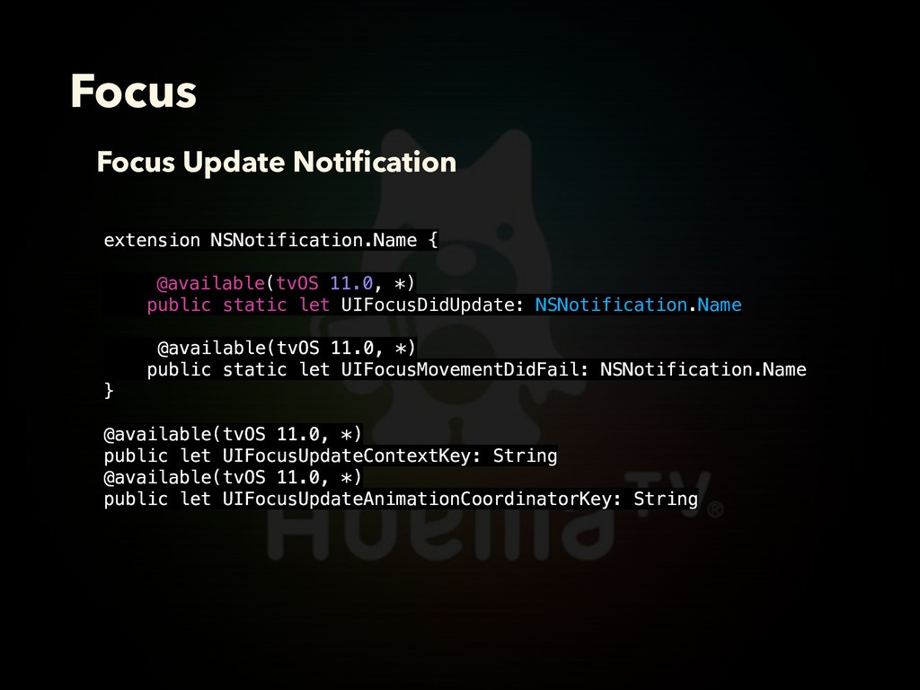 Focus Focus Update Notification extension NSNoti...
