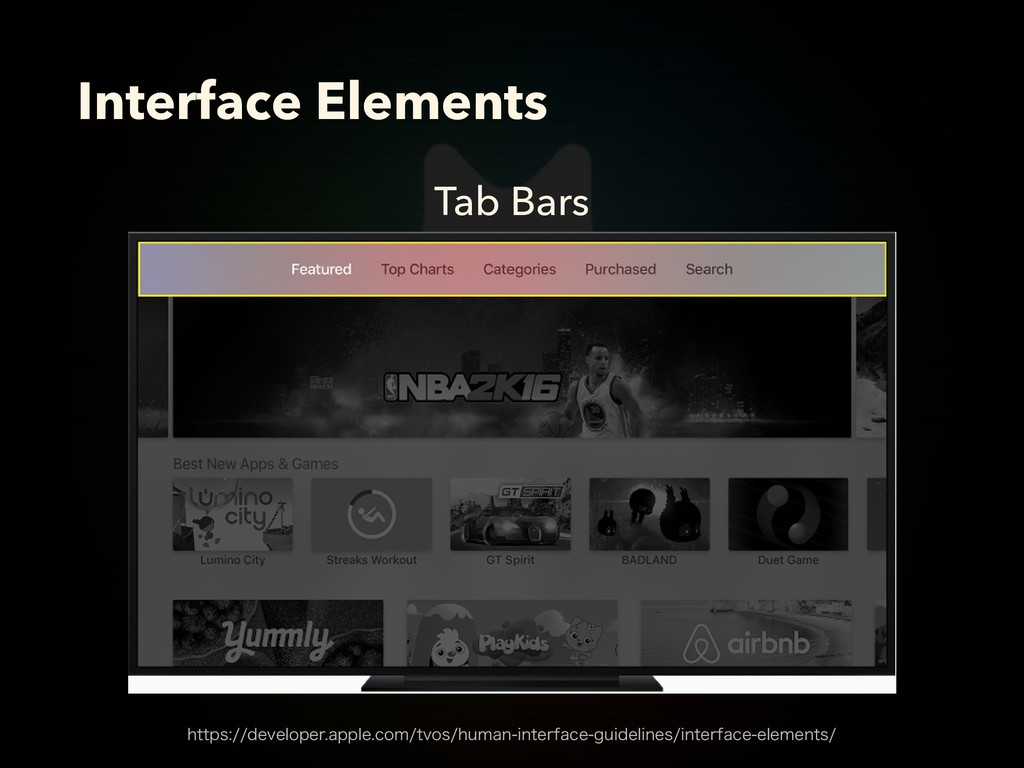 Tab Bars Interface Elements IUUQTEFWFMPQFSB...