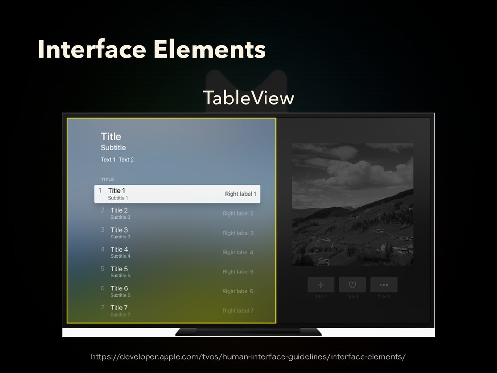 TableView Interface Elements IUUQTEFWFMPQFS...