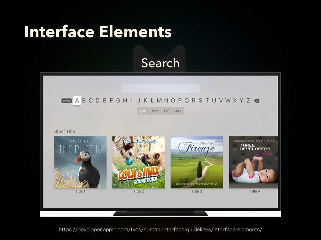 Search Interface Elements IUUQTEFWFMPQFSBQQ...