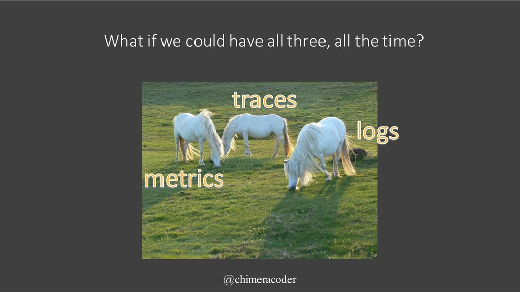 What if we could have all three, all the time? ...