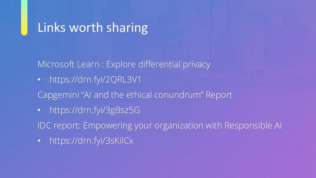 Links worth sharing Microsoft Learn : Explore d...