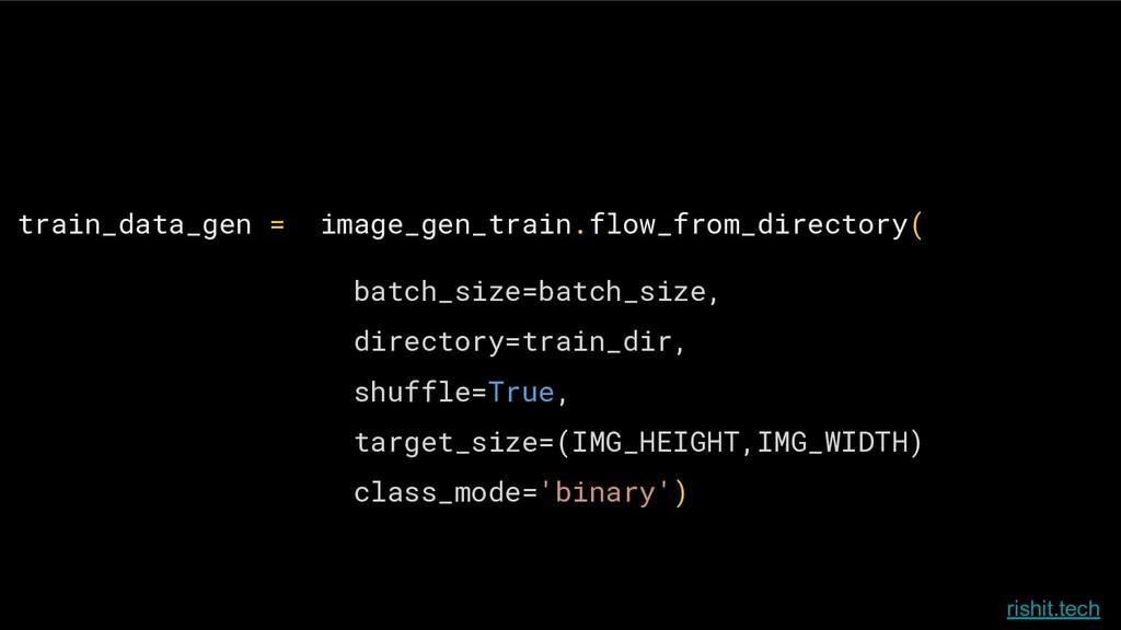 rishit.tech train_data_gen = image_gen_train.fl...