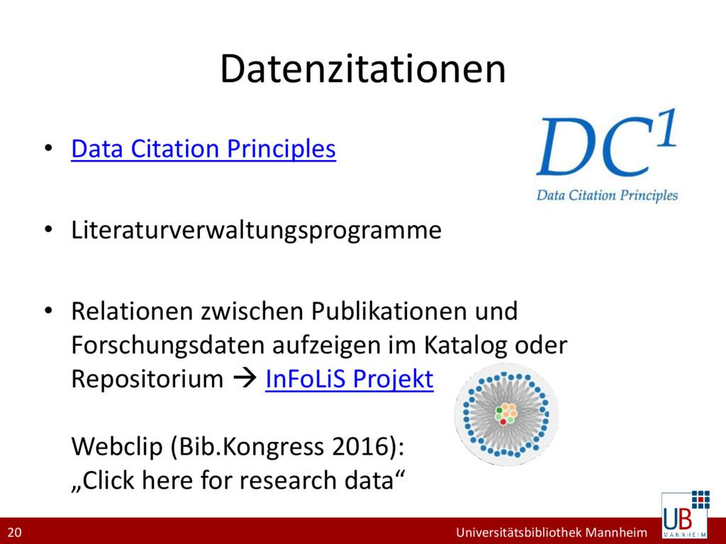 20 Universitätsbibliothek Mannheim Datenzitatio...