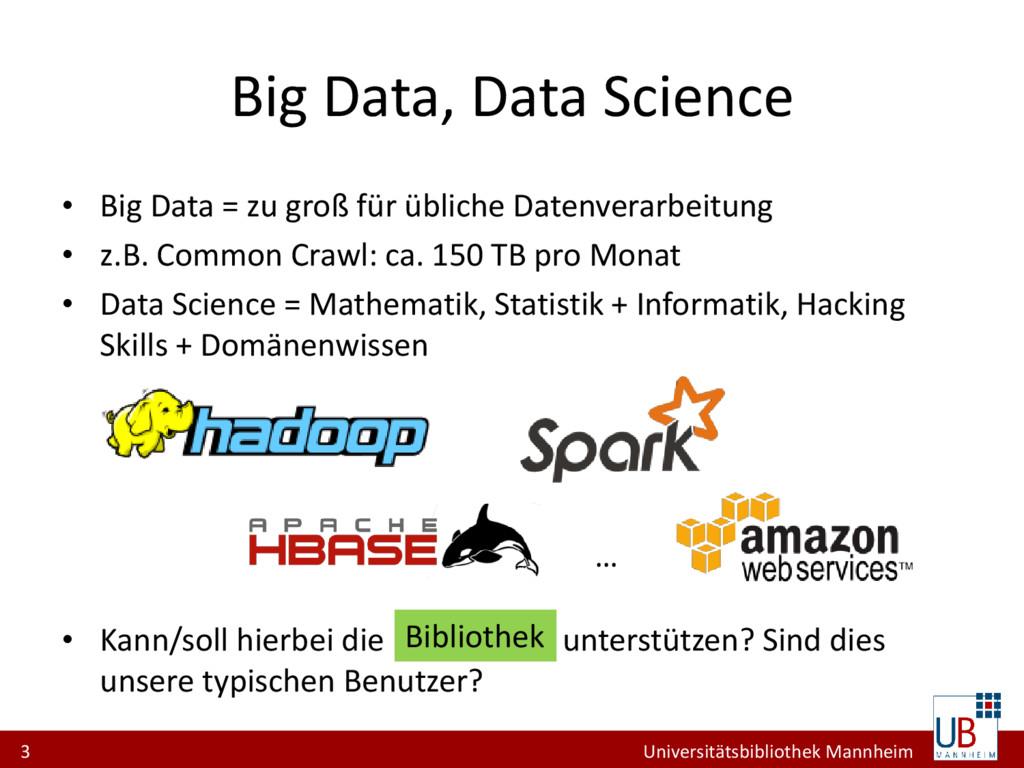 3 Universitätsbibliothek Mannheim Big Data, Dat...