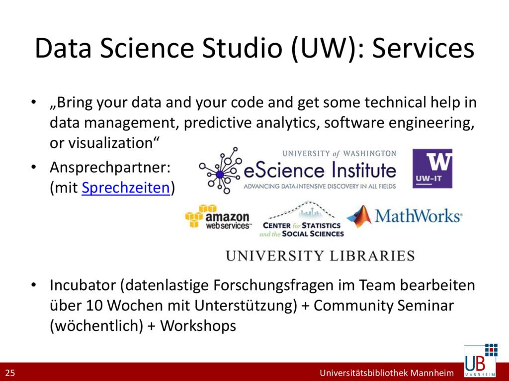 25 Universitätsbibliothek Mannheim Data Science...