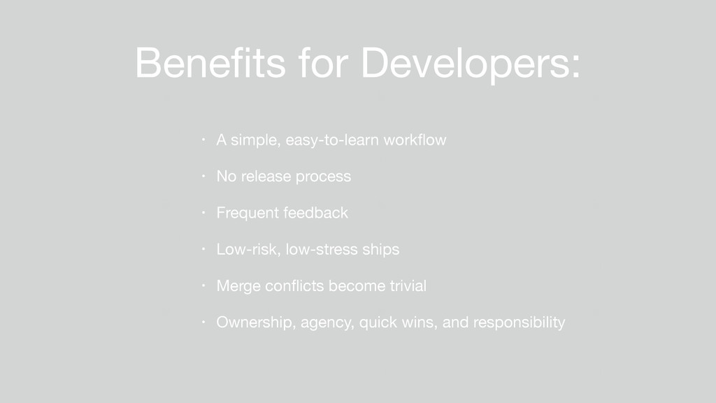 Benefits for Developers: • A simple, easy-to-lea...