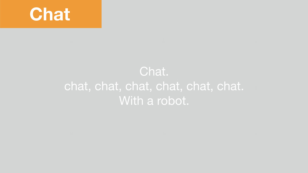Chat Chat.  chat, chat, chat, chat, chat, chat....