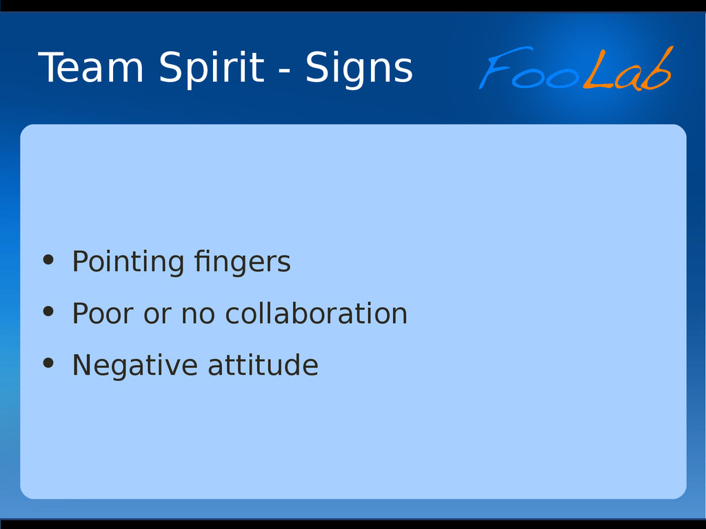 Team Spirit - Signs • Pointing fingers • Poor o...