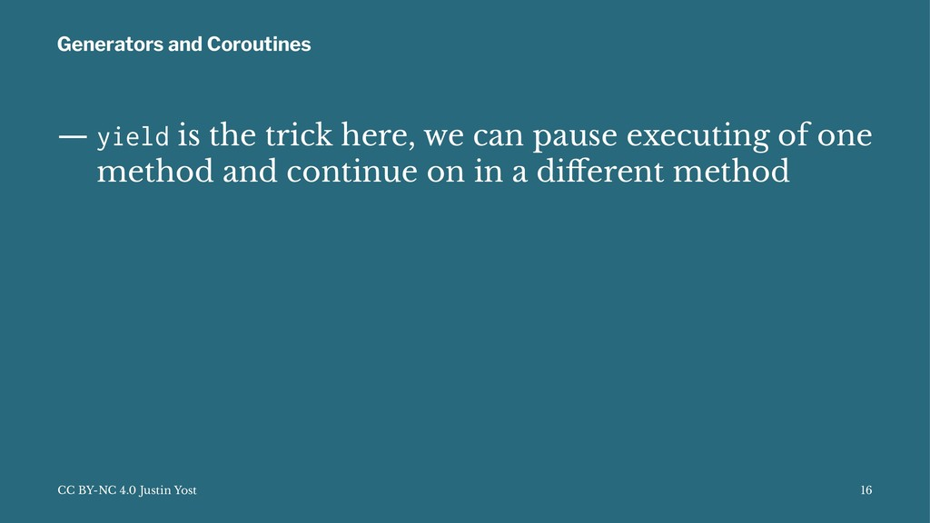 Generators and Coroutines — yield is the trick ...
