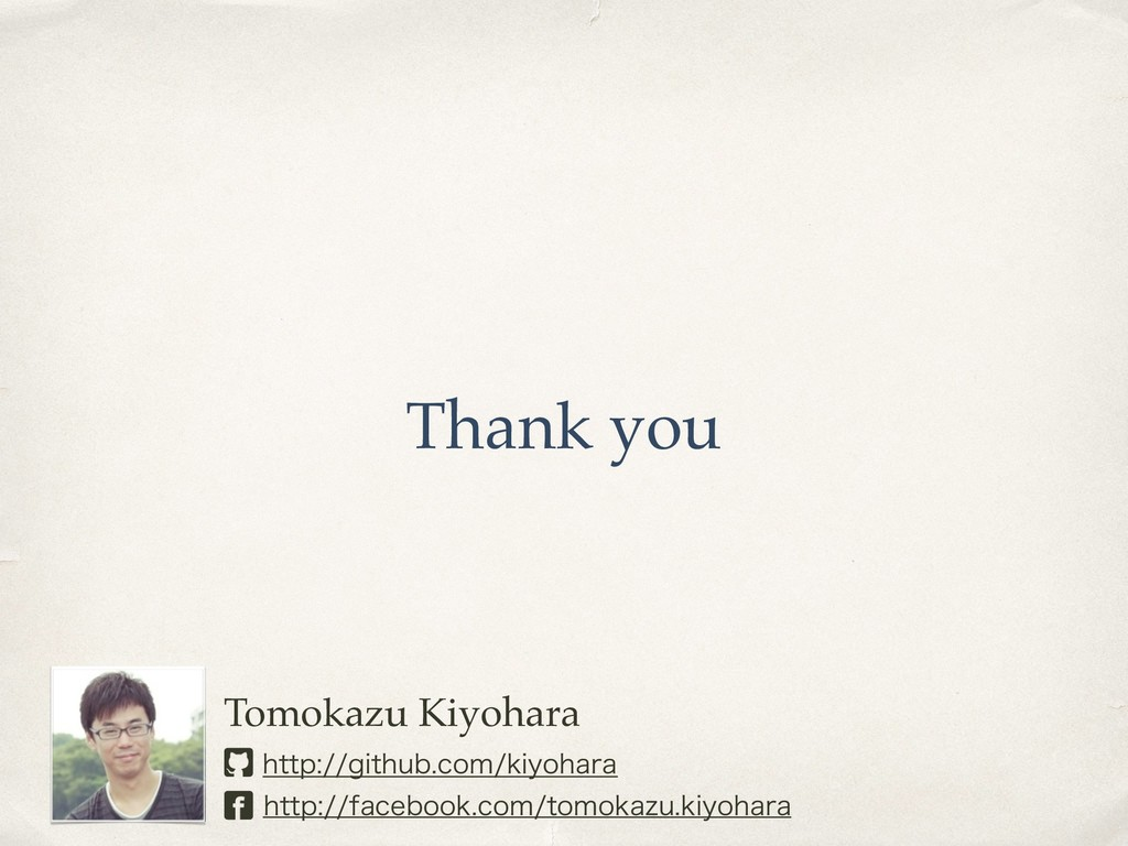 Thank you Tomokazu Kiyohara IUUQHJUIVCDPNL...