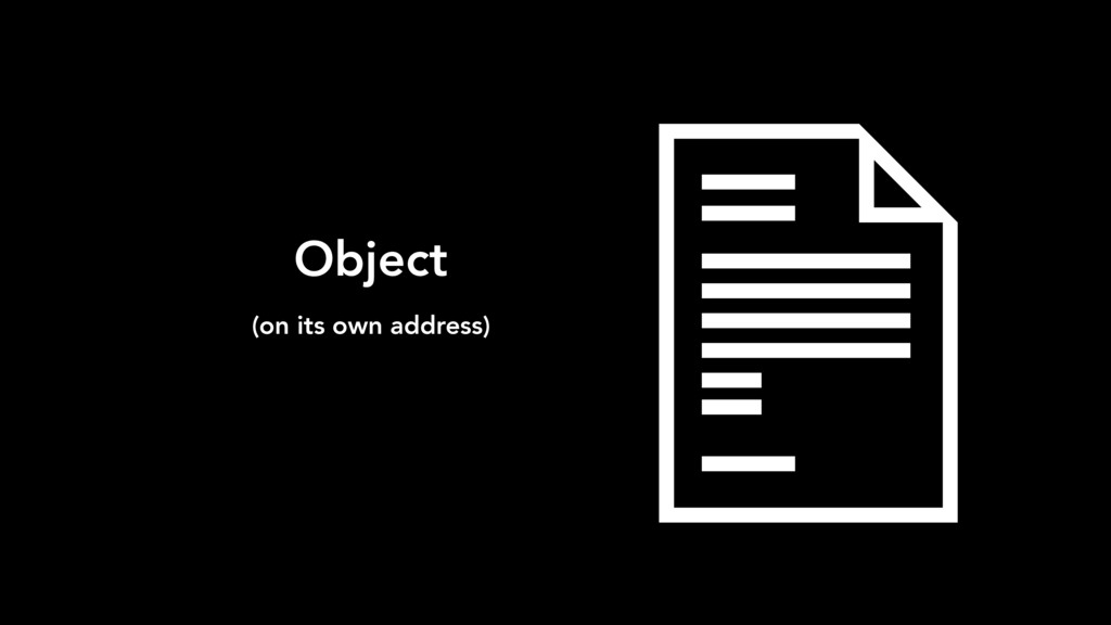 Object (on its own address)