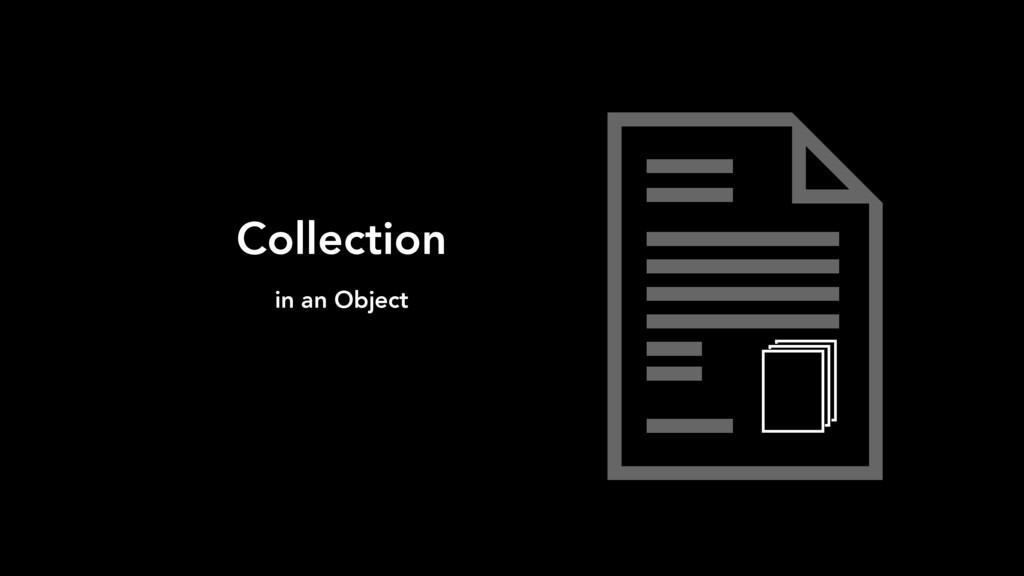 Collection in an Object