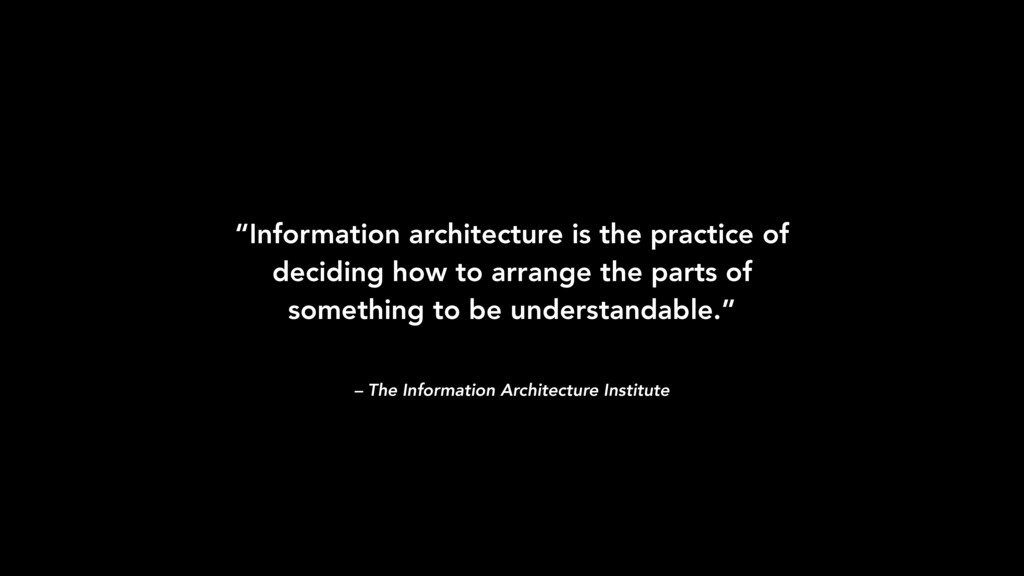 "– The Information Architecture Institute ""Infor..."