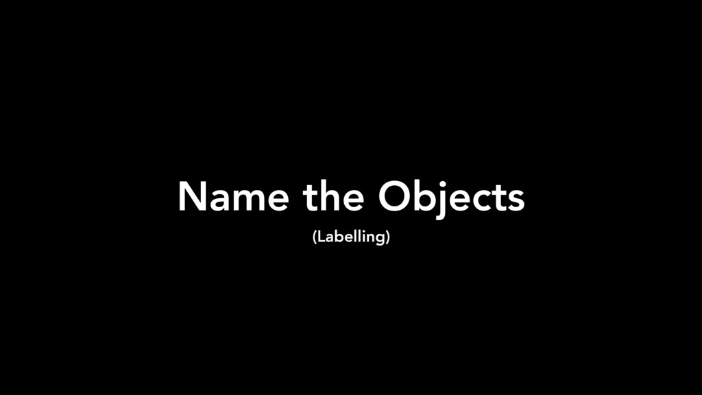 Name the Objects (Labelling)