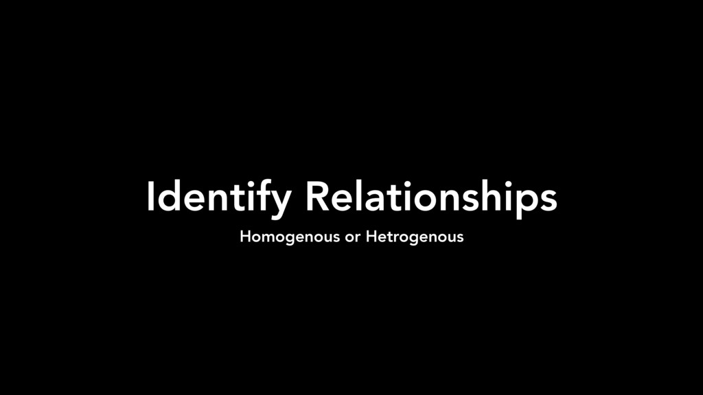 Identify Relationships Homogenous or Hetrogenous