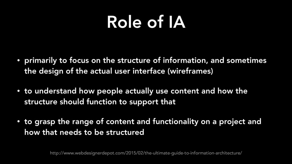 Role of IA • primarily to focus on the structur...