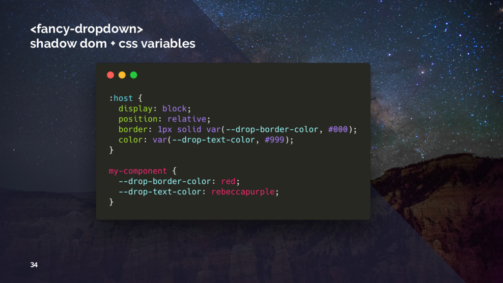 <fancy-dropdown> shadow dom + css variables 34