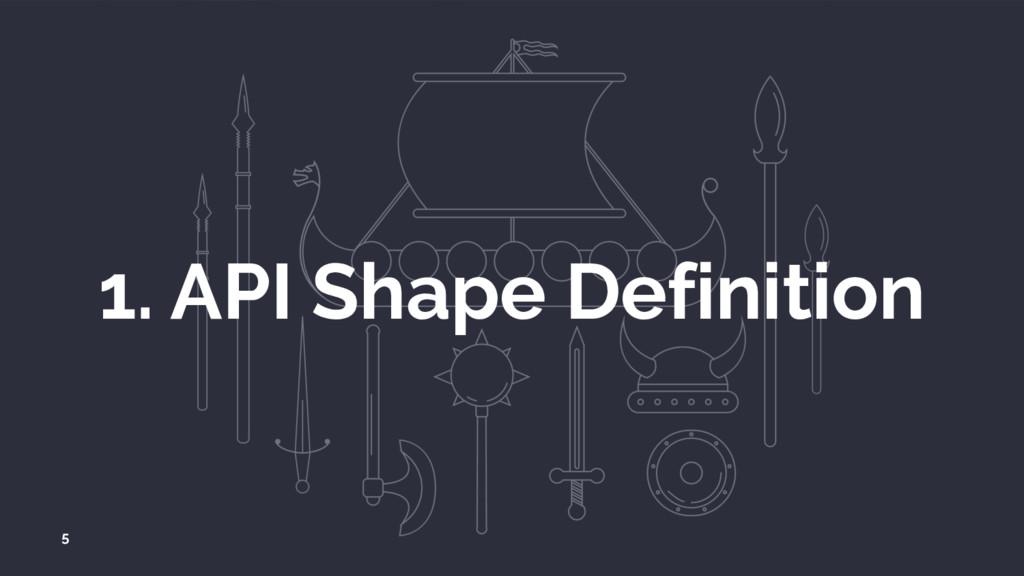 1. API Shape Definition 5