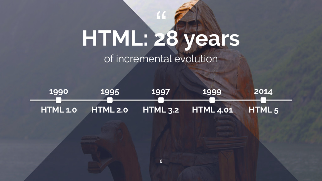 """ 6 HTML: 28 years of incremental evolution 199..."