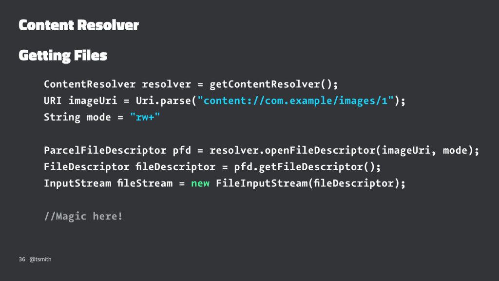 Content Resolver Getting Files ContentResolver ...
