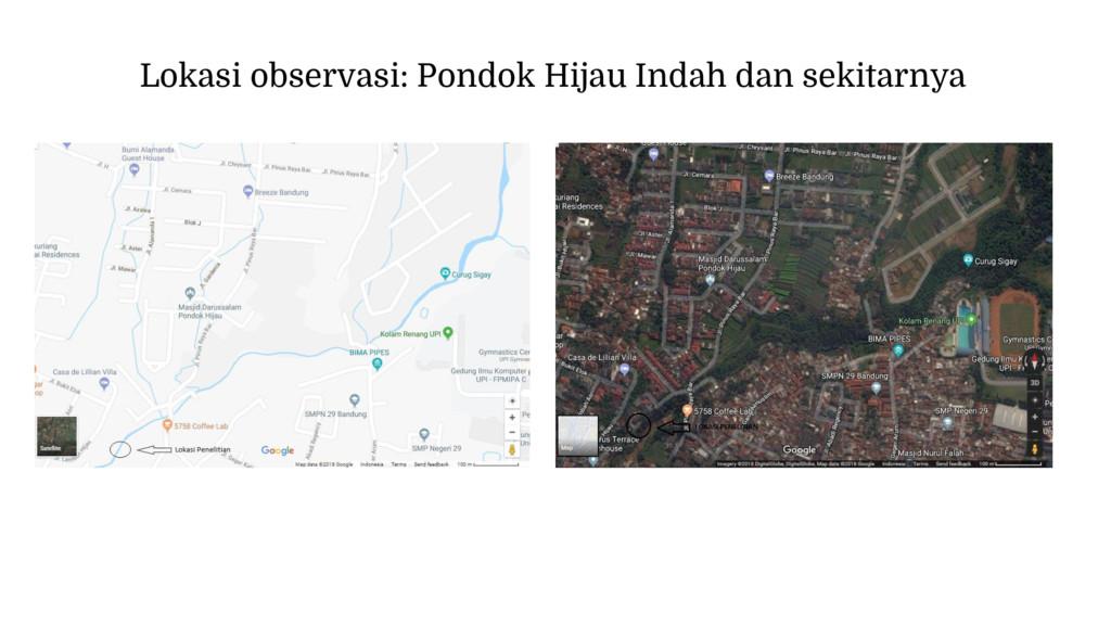 Lokasi observasi: Pondok Hijau Indah dan sekita...