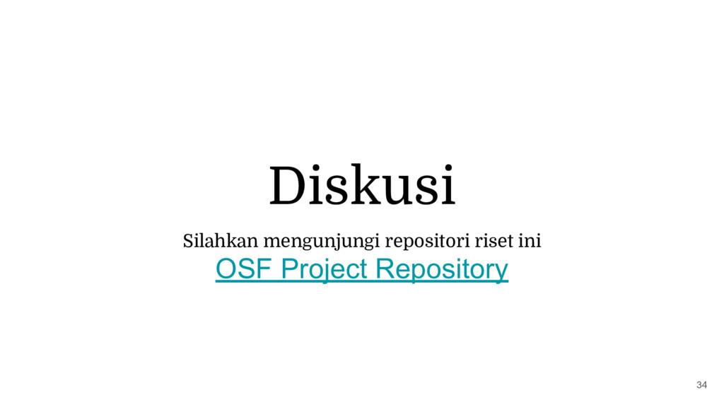 Diskusi 34 Silahkan mengunjungi repositori rise...