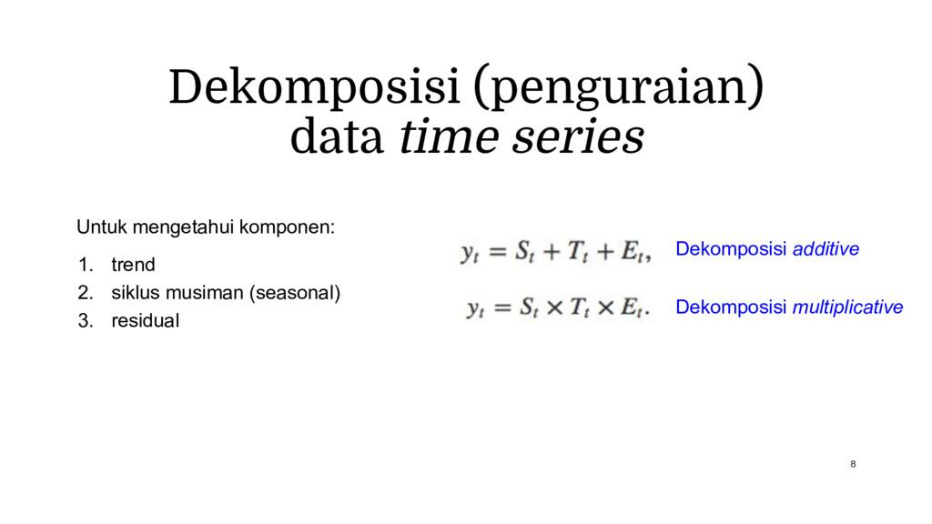 Dekomposisi (penguraian) data time series Untuk...
