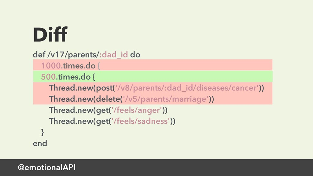 @emotionalAPI Diff def /v17/parents/:dad_id do ...